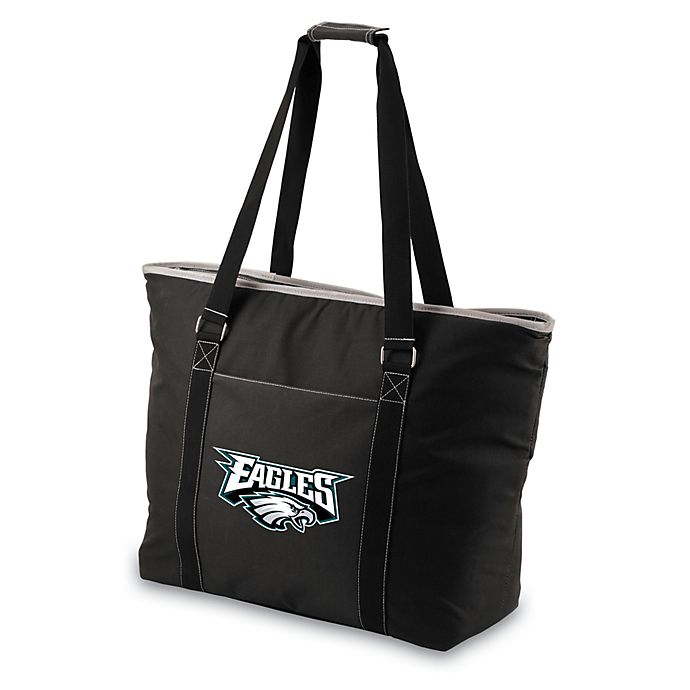 Alternate image 1 for Picnic Time® Philadelphia Eagles Tahoe Insulated Cooler Tote in Black