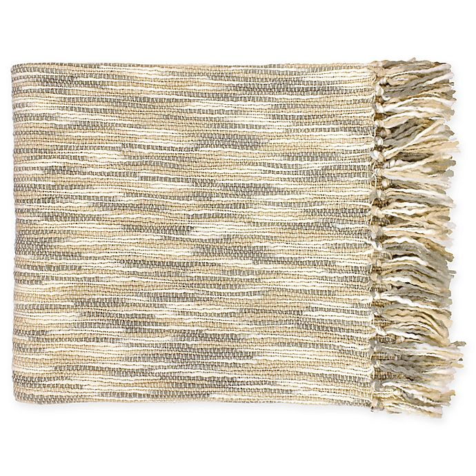 Alternate image 1 for Surya Teegan Oversized Throw Blanket in Ivory/Grey