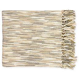 Surya Teegan Oversized Throw Blanket in Ivory/Grey