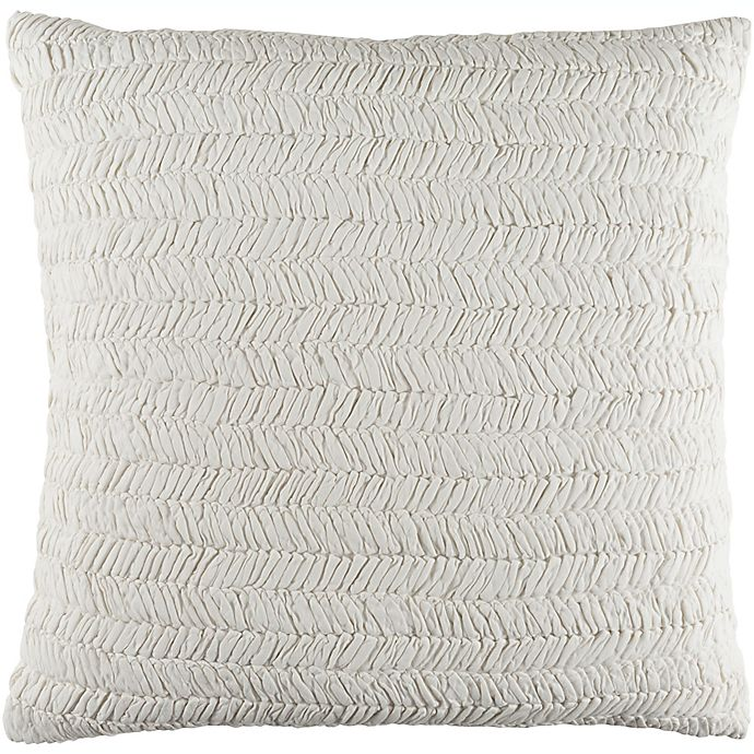 Alternate image 1 for Surya Lindon Textured European Pillow Sham in White