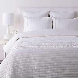 Surya Lindon Full/Queen Duvet Cover Set in White