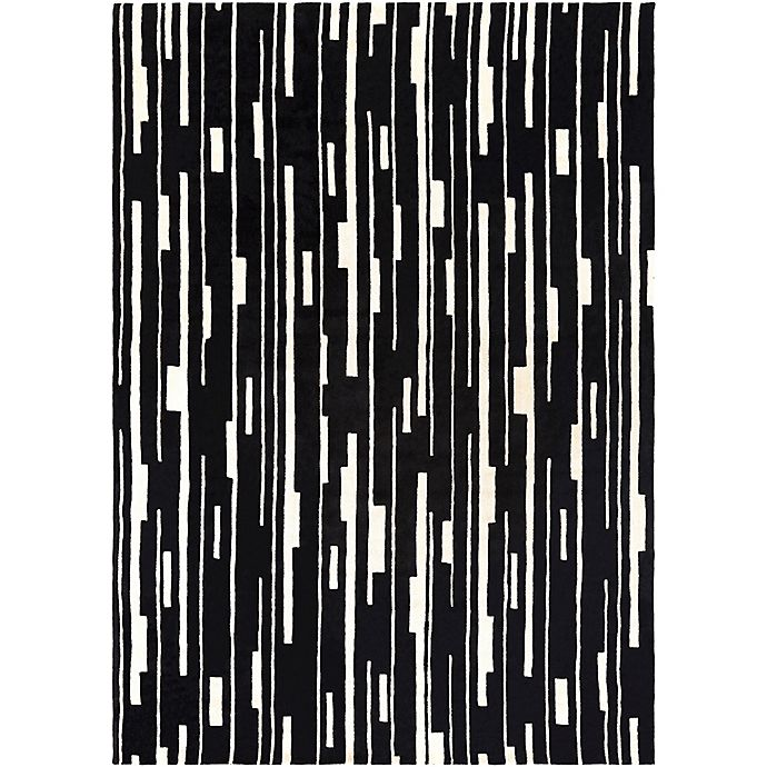 Alternate image 1 for Surya Modern Classics Geometric 8' x 11' Area Rug in Black/Ivory