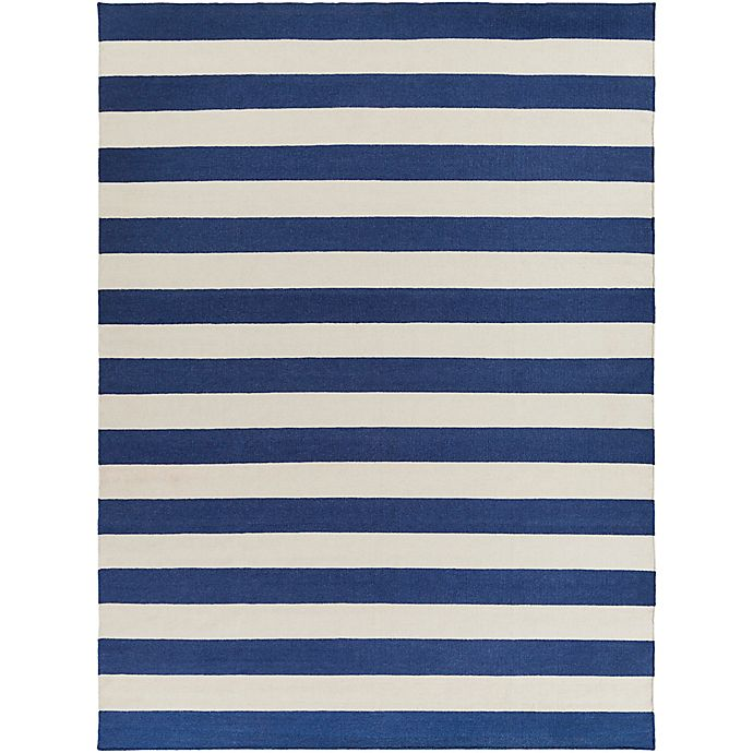 Alternate image 1 for Surya Frontier Striped 8' x 11' Area Rug in Dark Blue/White