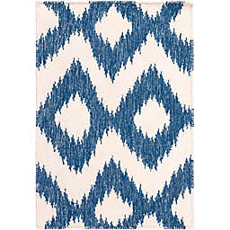 Surya Frontier Global 2' x 3' Accent Rug in Navy/Cream
