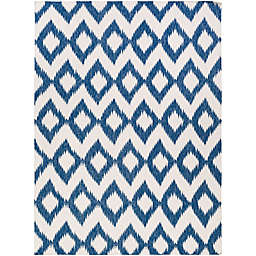 Surya Frontier Global 8' x 11' Area Rug in Navy/Cream