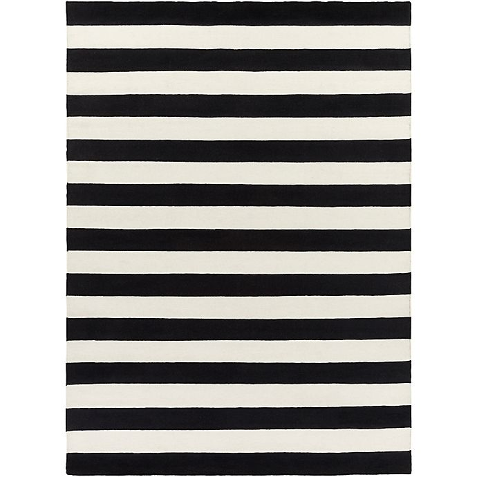 Alternate image 1 for Surya Frontier Striped 8' x 11' Area Rug in White/Black