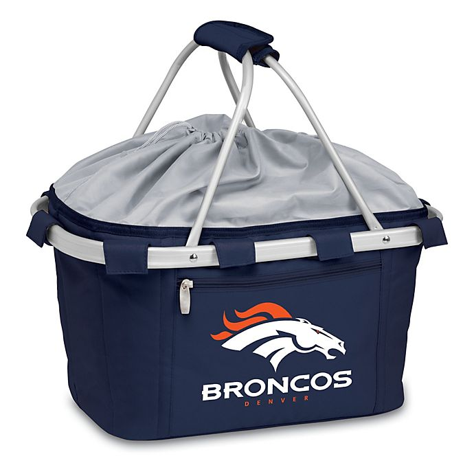 Alternate image 1 for Picnic Time® Denver Broncos Metro Insulated Basket in Navy Blue
