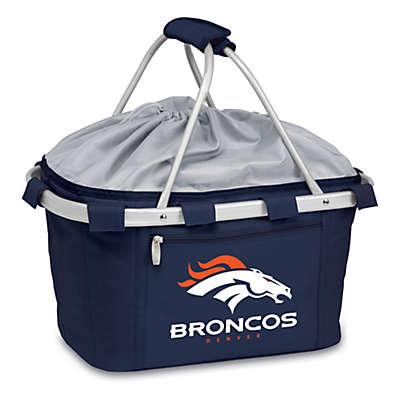 Picnic Time® Denver Broncos Metro Insulated Basket in Navy Blue