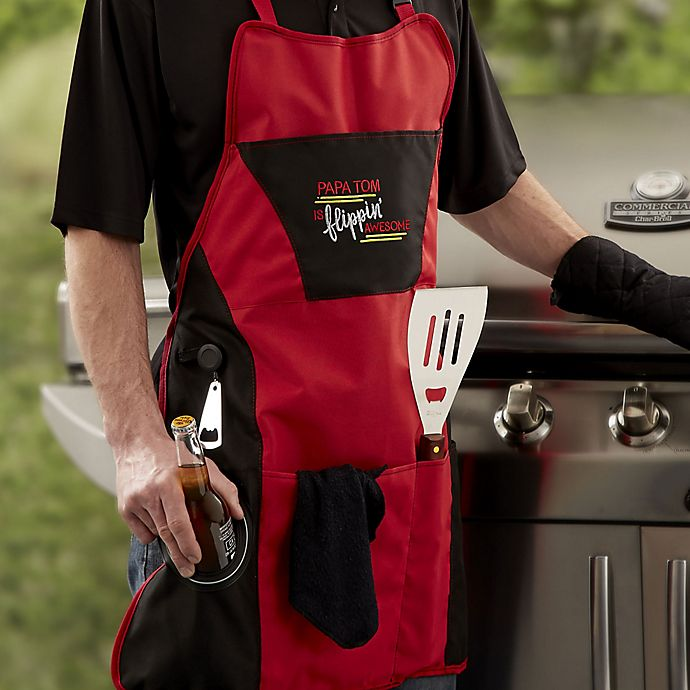 Alternate image 1 for 4-Piece Grill Apron Set