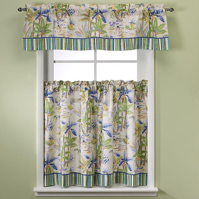 Lagoon Kitchen Window Curtain Tiers