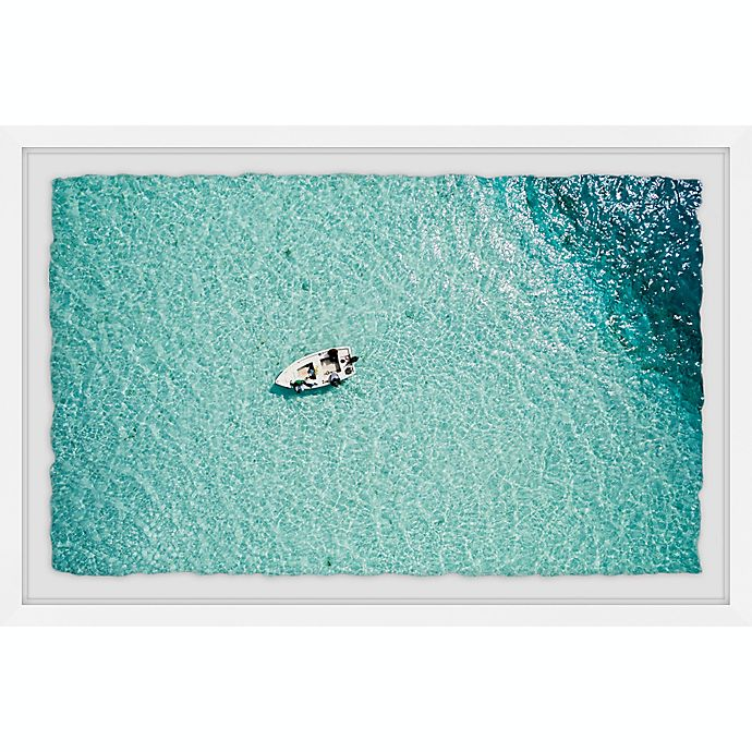 Alternate image 1 for Marmont Hill Clear Blue Lake 18-Inch x 12-Inch Framed Wall Art