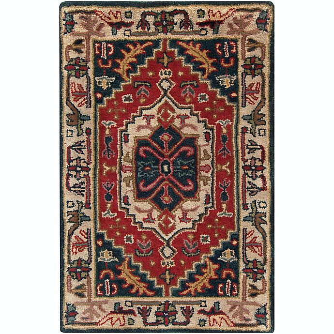 Alternate image 1 for Surya Ancient Treasures Traditional 2' x 3' Accent Rug in Red/Blue