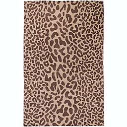 Surya Athena Animal Print 5' x 8' Area Rug in Brown