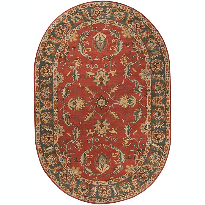 Alternate image 1 for Surya Caesar Classic 6' x 9' Oval Rug in Red/Grey