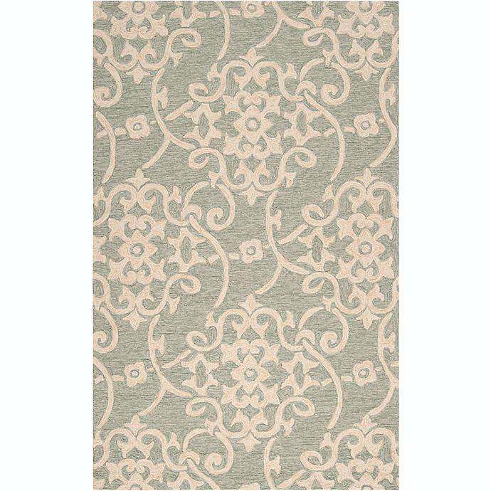 Alternate image 1 for Surya Rain Medallion 3' x 5' Hand-Hooked Indoor/Outdoor Area Rug in Green
