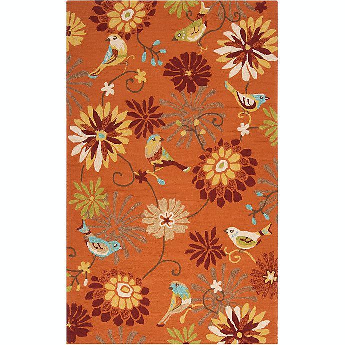 Alternate image 1 for Surya Rain Floral 3' x 5' Hand-Hooked Indoor/Outdoor Area Rug in Orange