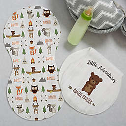 Woodland Adventure Bear Burp Cloths (Set of 2)