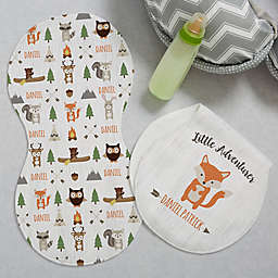 Woodland Adventure Fox Burp Cloths (Set of 2)