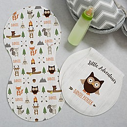 Woodland Adventure Owl Burp Cloths (Set of 2)