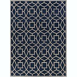 Suyra Dream Geometric 8' x 11' Area Rug in Blue/Grey