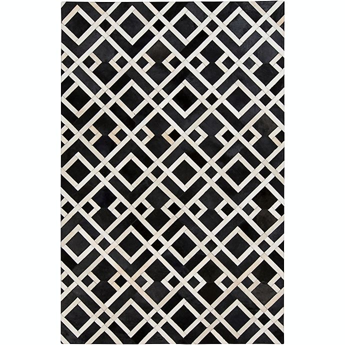 Alternate image 1 for Surya Trail Leather 8-Foot x 10-Foot Area Rug in Black/Neutral