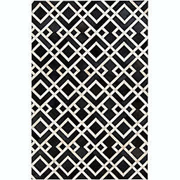 Surya Trail Leather 8-Foot x 10-Foot Area Rug in Black/Neutral
