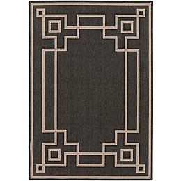 Surya Alfresco Woven Area Rug in Black/Brown