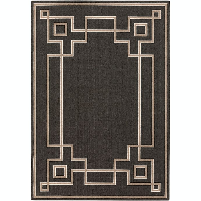 Alternate image 1 for Surya Alfresco Woven Area Rug in Black/Brown