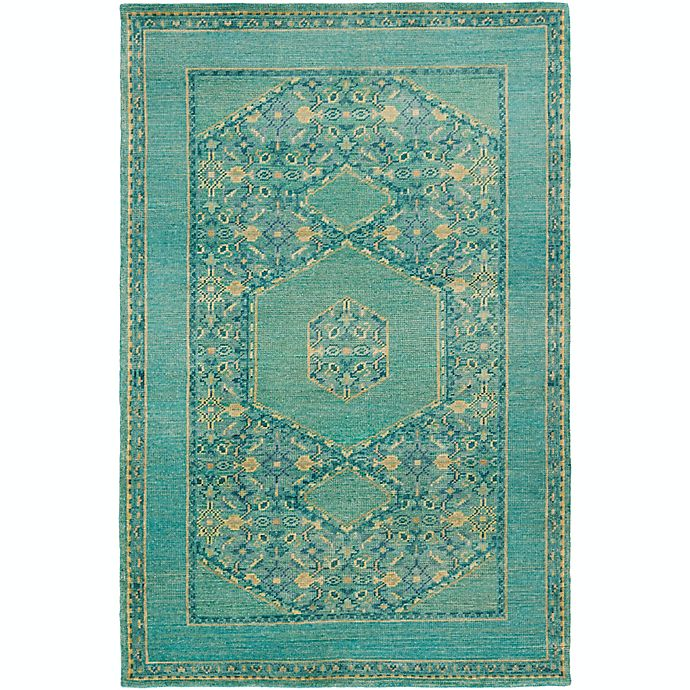 Alternate image 1 for Surya Haven 5'6 x 8'6 Hand-Knotted Area Rug in Green/Blue