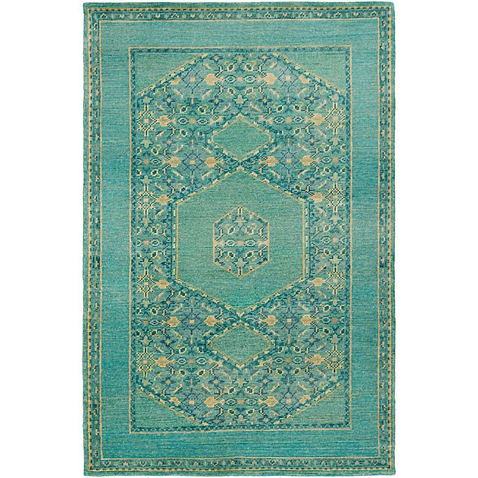 Alternate image 1 for Surya Haven 9' x 13' Hand-Knotted Area Rug in Green/Blue