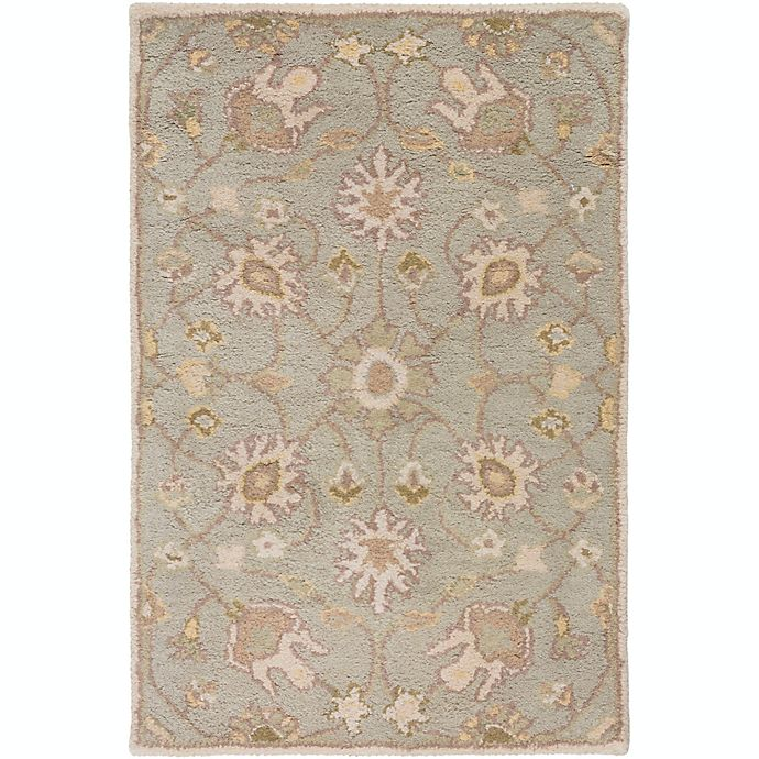 Alternate image 1 for Surya Caesar Vintage Ivy 2' x 3' Accent Rug in Grey/Wheat