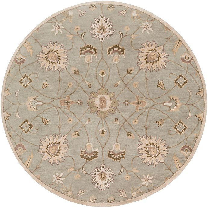 Alternate image 1 for Surya Caesar Vintage Ivy 6' Round Area Rug in Grey/Wheat