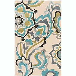 Surya Cosmopolitan Floral Rug in Blue