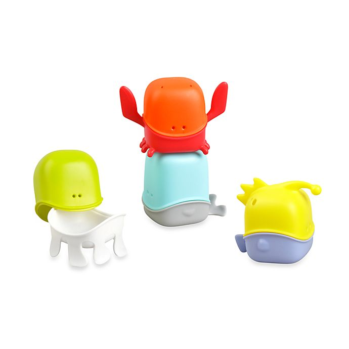 Alternate image 1 for Boon Creatures Bath Toy Cup Set
