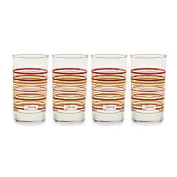 Fiesta® Multi-Color Stripe 7-Ounce Juice Glasses (Set of 4)