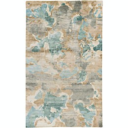 Surya Slice of Nature Rug in Silver/Green