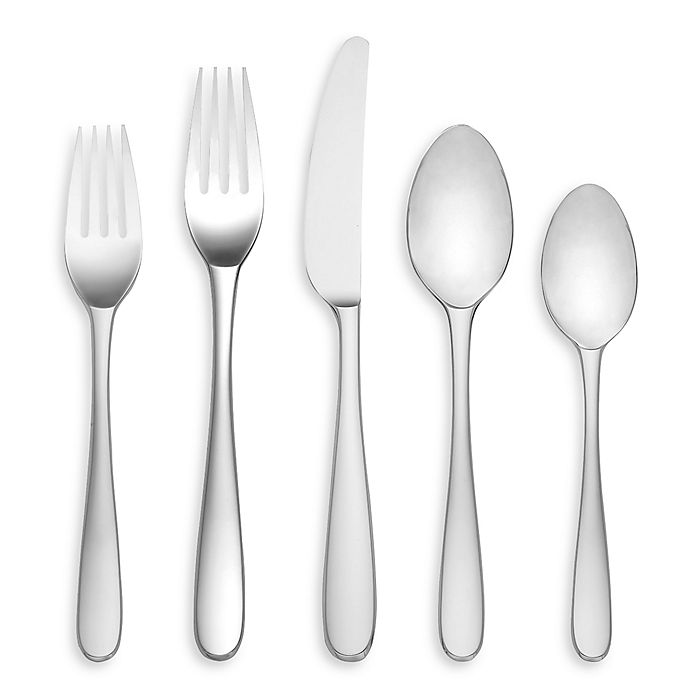 Alternate image 1 for Lenox® Stratton Stainless 65-Piece Flatware Set
