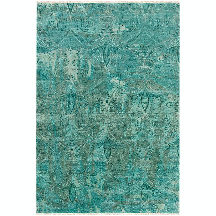 Alternate image 1 for Surya Cheshire Medallion 8'6 x 11'6 Indoor/Outdoor Area Rug in Aqua