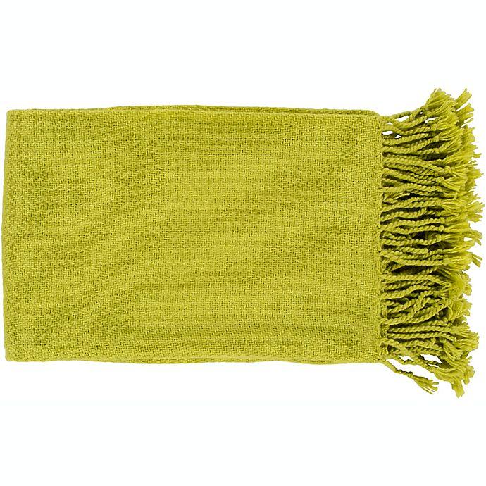 Alternate image 1 for Surya Turner Throw Blanket in Lime