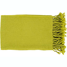 Surya Turner Throw Blanket in Lime