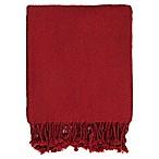 Surya Turner Throw Blanket in Bright Red