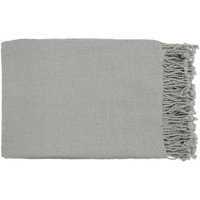 Alternate image 1 for Surya Turner Throw Blanket in Grey