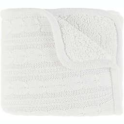Surya Tucker Throw Blanket in White