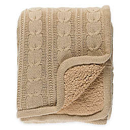 Surya Tucker Throw Blanket in Beige