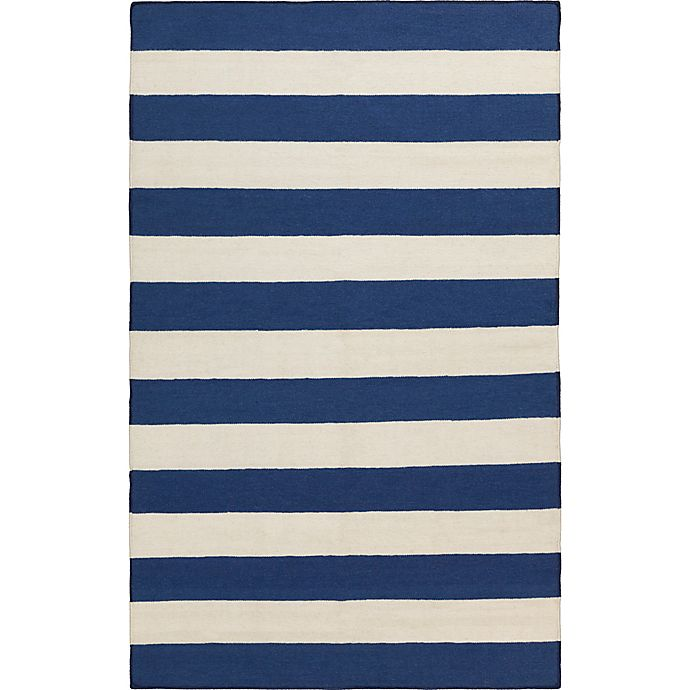 Alternate image 1 for Surya Frontier Striped 9' x 13' Area Rug in Dark Blue