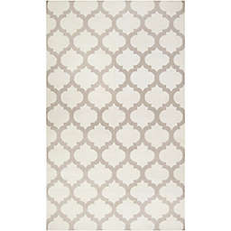 Surya Frontier Geometric 9' x 13' Area Rug in White