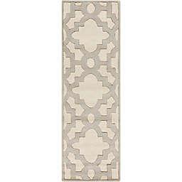 Surya Modern Classics Moroccan Trellis 2'6 x 8' Runner in Grey/Cream
