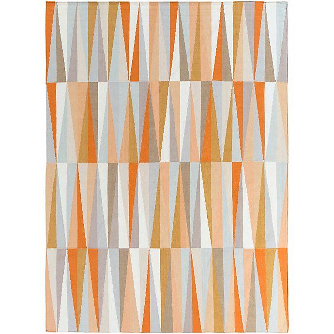 Frontier Geometric Rug In Burnt Orange