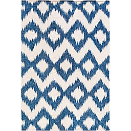 Surya Frontier Global 3'6 x 5'6 Area Rug in Navy/Cream