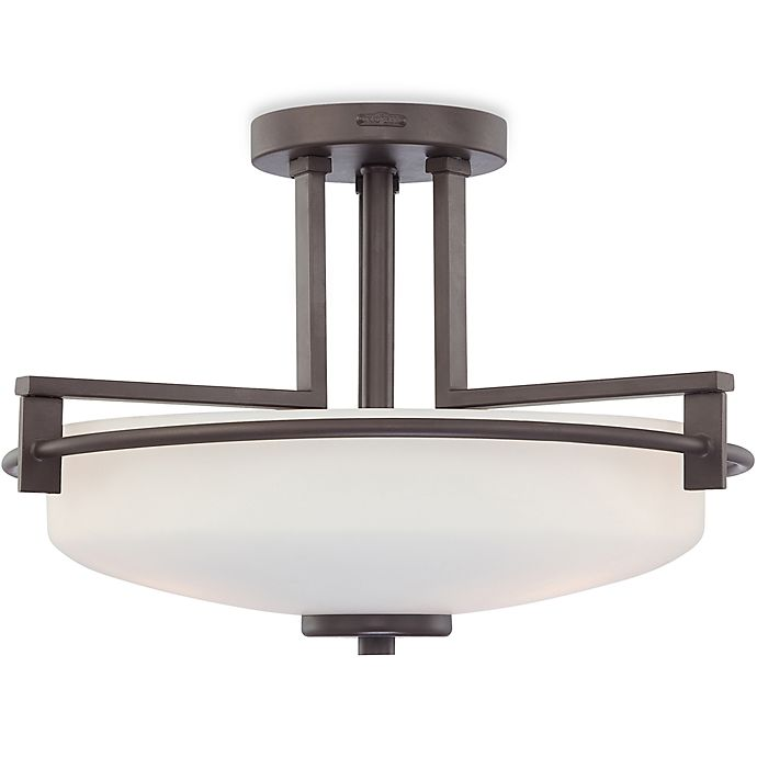 Western Style Ceiling Light Fixtures: Linear Style Ceiling 3-Bulb Taylor Light Fixture With Opal